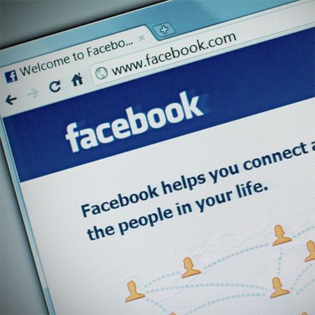 facebook website page