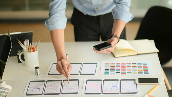 Wireframing for a web design company